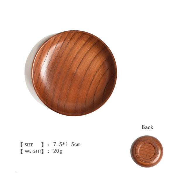 Round Wooden Tableware