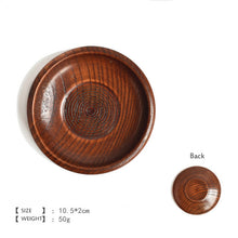 Load image into Gallery viewer, Round Wooden Tableware