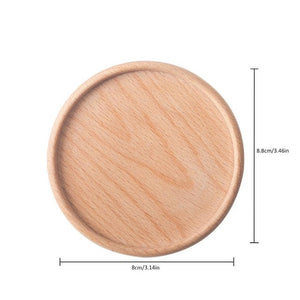 Crafted Wood Round Dinner Plate
