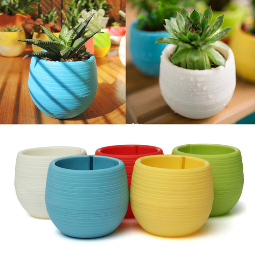 Mini Colourful Round Flower Pots