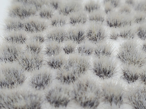 Self-Adhesive Static grass Tufts -4mm- -Wasteland Ash Grey- - MiniGrounds