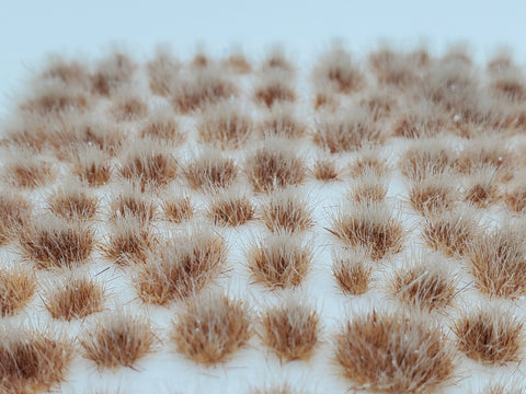 Self-Adhesive Static grass Tufts -4mm- Frosted Yellow/Brown Hay - MiniGrounds