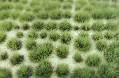 Self-Adhesive Static grass Tufts -4mm- Two-Tone green - MiniGrounds