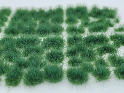 Self-Adhesive Static grass Tufts -4mm- -Plain Green-
