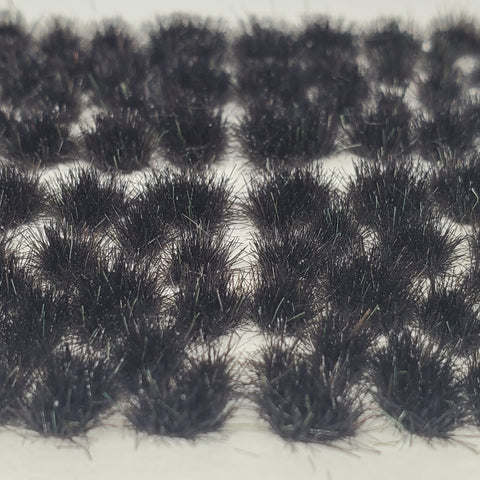Adhesive Static grass Tufts -4mm- -Black-