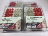 Adhesive Static grass Tufts -4mm- -Red/White Flowers-