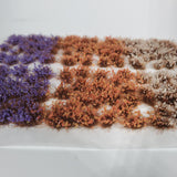 Static grass Tufts -4mm- -Mixed Wildflowers-