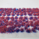 Adhesive Static grass Tufts -4mm- -Red Flowers-