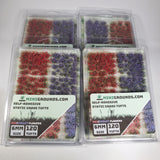 Adhesive Static grass Tufts -6mm- -Violet/Red Flowers-