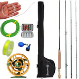 Sougayialng #5/6  Fly Rod and Fly Reel Combo with Fishing Lure Line Box Se