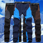 Men Winter Fish Warm Softshell Fleece Pants