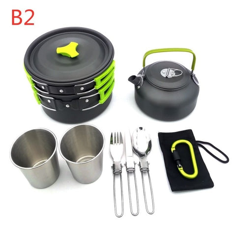 Outdoor Camping Hiking Picnic Teapot Pot Set