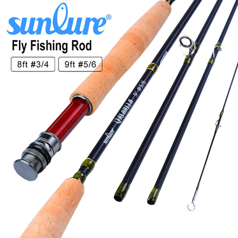 8FT 9FT Line wt 3/4 5/6 Super Light Fly Rod Fishing Tackle