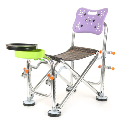 Stainless Steel Fishing Chair Height Adjustable Camping Chair