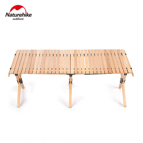 Outdoors Folding  Style Table For Camp Solid Wood