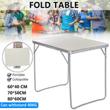 3 Size Portable Folding  Aluminum Laptop Table