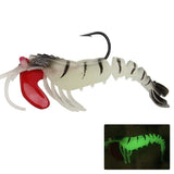 1PCS   9CM 13G  Soft  Shrimp For Sea Fishing Wobbler Bait