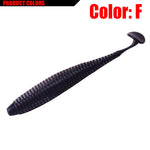 10pcs 9.5cm 3g T tail Soft Bait Salt smell Artificial Rubber Bass Lure