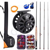 2.7M 8.86FT #5/6  Fly Rod and Fly Reel with Fishing Bag