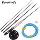 4 Section Fly Fishing Rod and Fly Reel 4F 100FT