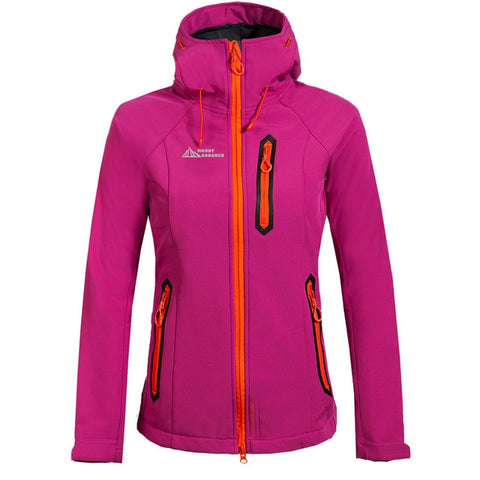 Women Hiking Jacket Softshell Fleece Warm Coat