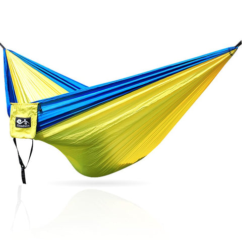 garden hammock swing hammock under parachute nylon fabric
