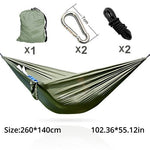 portable parachute hammock camping swing garden chair swing