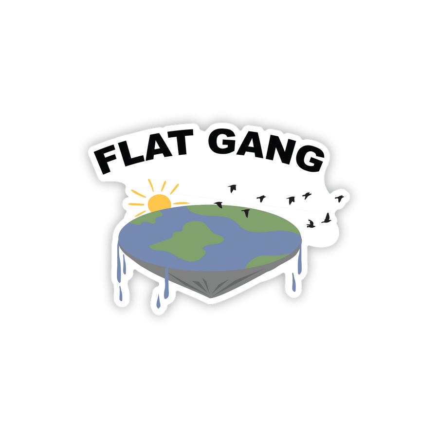 Flat Gang Sticker