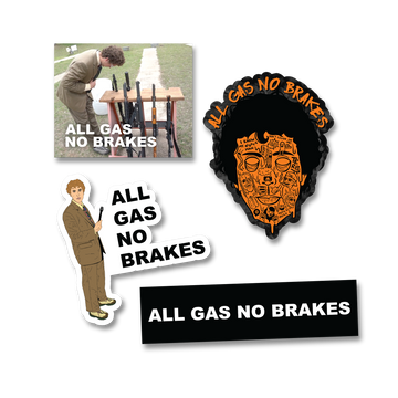 All Gas No Brakes Complete Sticker Pack