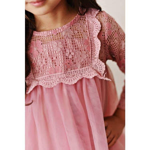 Pink Lace Yolk Dress - Hummingbirdinashoebox