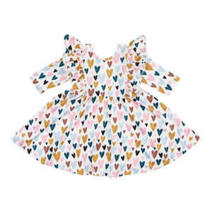 I Heart You Ruffle Twirl Dress - Hummingbirdinashoebox