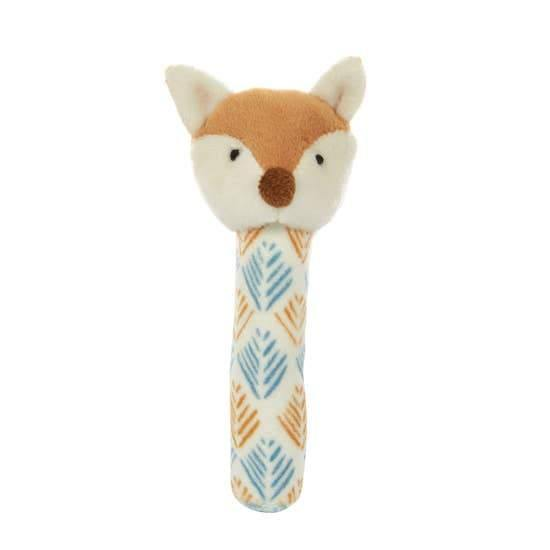 Phil the Fox Baby Rattle - Hummingbirdinashoebox