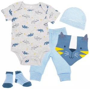 5-Piece Baby Boy Gift Set- Tiger Theme