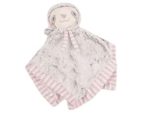 Sloth Baby Security Blankie with Rattle