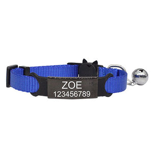 Pawfect Personalized Engraved Nylon Cat Collar - Abound Pet Supplies