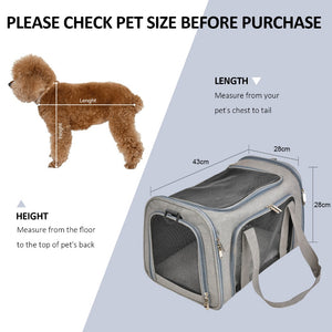 Pet Carrier for Small, Medium Cats, Dogs & Puppies up to 15 Lbs - Abound Pet Supplies