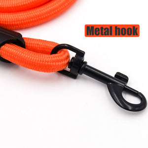 Comfortable & Shock Absorbing 4ft Dog Leash with Comfy Foam Handle - Abound Pet Supplies
