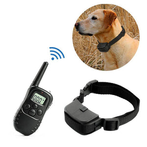 300m Electric Dog Training Collar with LCD Remote - Abound Pet Supplies