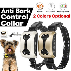 Rechargeable Anti Bark Dog Collar - Abound Pet Supplies