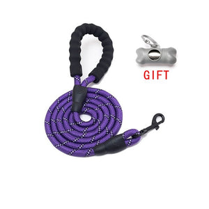 5 FT Strong Dog Leash with Comfortable Padded Handle - Abound Pet Supplies