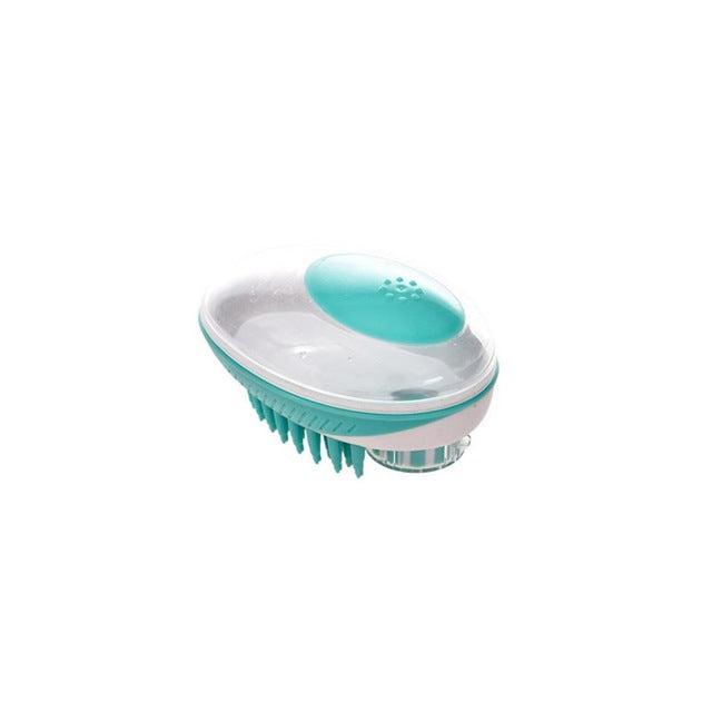 Dog Bath Massage Brush with Shampoo Dispenser - Abound Pet Supplies