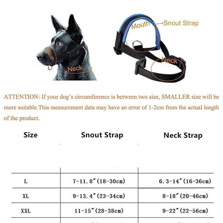 Nylon Dog Muzzle for Large Dogs - Abound Pet Supplies