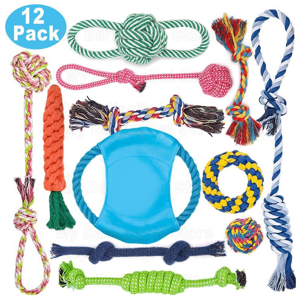 12Pc Large Dog Toys Set for Aggressive Chewers - Abound Pet Supplies