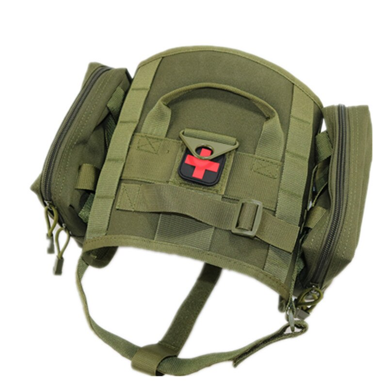 Military Tactical Dog Harness With Molle Pouches - Abound Pet Supplies