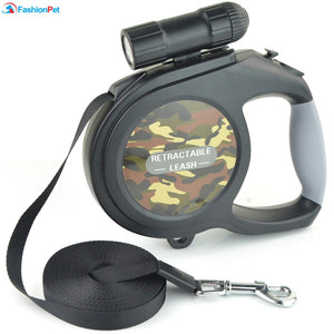 8M Retractable Extending Dog Leash with LED Flashlight - Abound Pet Supplies