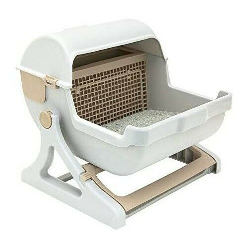 Semi-Automatic Quick Cleaning Cat Litter Box - Abound Pet Supplies