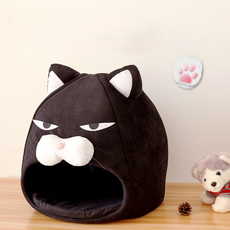 Novel Cozy Cat Shaped Bed - Abound Pet Supplies