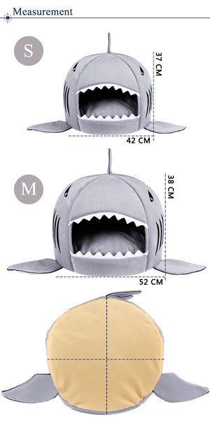 Novelty Soft Shark Cat Bed - Abound Pet Supplies