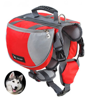 Adjustable Service Dog Supply Backpack Saddle Bag for Camping Hiking - Abound Pet Supplies