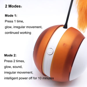 Electronic Smart Rolling Ball Interactive Cat Toy - Abound Pet Supplies
